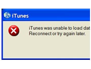 Unable to load dataclass information from sync services error on iTunes